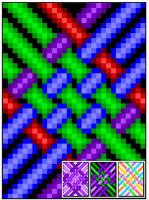 Simple Knotwork Weave Quilt Pattern RMT-0004e