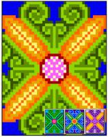 Baroque Flower Quilt Pattern RMT-0047e