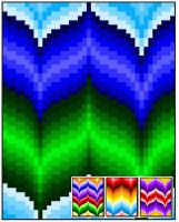 Bargello Curves Quilt Pattern RMT-0127e