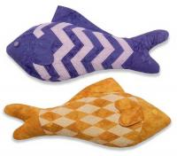 Chevron and Diamond Fish Stuffed Animal Pattern RQS-103