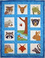 Whimsical Woodland Faces Quilt Pattern SCN-2067