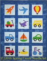 Toys That Travel Transportation Quilt Pattern SCN-2074