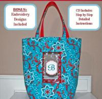 Just A Peek Tote Bag Pattern SM2-108