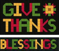 Give Thanks, Blessings Wall Hanging Pattern SP-202