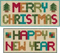 Merry Christmas/Happy New Year Wall Hanging Pattern SP-203