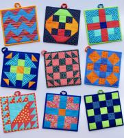 5-Patch Modern Potholder Pattern SP-218