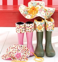 Rainy Hat and Boot Liners Pattern SSP-101