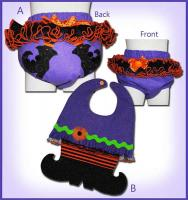 Witch Leg Diaper Cover and Bib Pattern ST-111