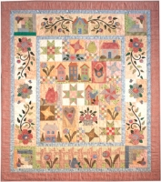 Rosewood Cottage - Friendship Star, Patches, Large Cat, Rose Bouquet Quilt Pattern TIM-5502