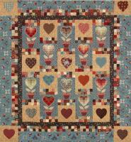 Bargello Heartflower Quilt Pattern TQS-51