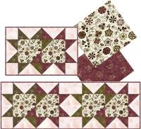 Double Star Placemats, Runner and Napkins Pattern TRQ-105