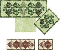 Argyle Placemats, Runner and Reversible Napkins Pattern TRQ-112