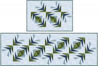 Water Reeds - Paper Pieced Placemats, Runner, and Napkins Pattern TRQ-113