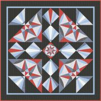 Ship's Compass Quilt Pattern TRQ-164
