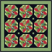 Jungle Flora Quilt Pattern TTQ-136