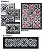 Black and White Delight Quilt Pattern TWW-0284e