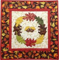 Harvest Leaves Wreath Quilt Pattern TWW-0327e