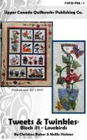 Tweets & Twinkles BOM - Lovebirds Block 1 Quilt Pattern UCQ-P551