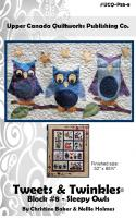 Tweets & Twinkles BOM - Block 8 Sleepy Owls Quilt Pattern UCQ-P558