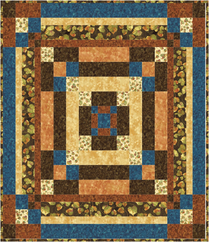 Square Quilt Patterns Free : Square Dance Quilt #1 Pattern TRQ-129 (advanced beginner, twin)