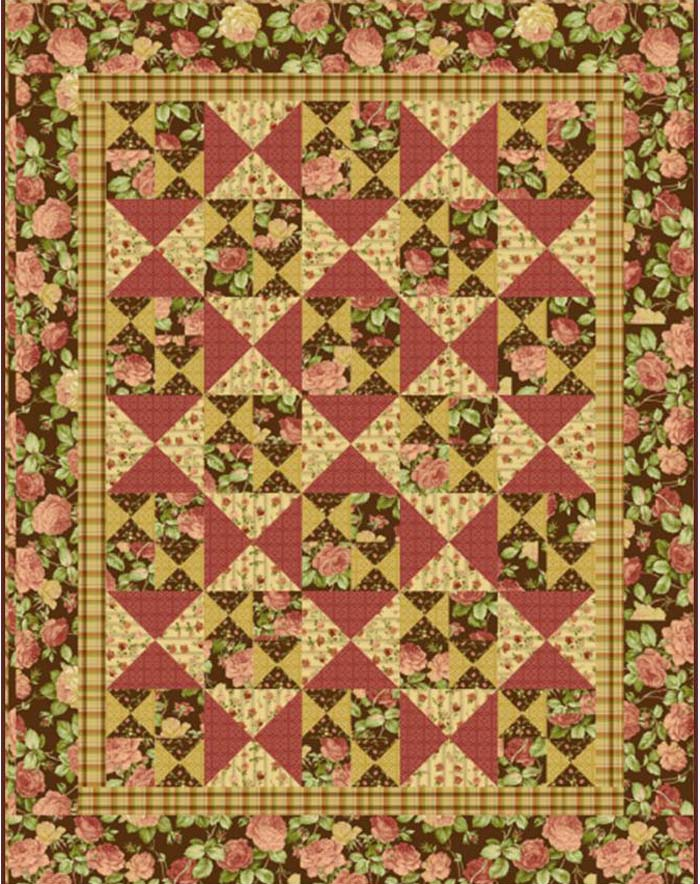 Country Rose Garden Quilt Pattern UCQ P13e